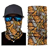Print Head Scarf Neck Windproof Face Mask Outdoor Ride Halloween Folk-Custom Headband (E)