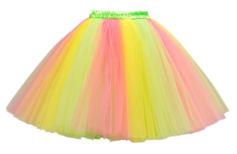 PerfectDay Women's Mini Tutu Ballet Multi-layer Ruffle Frilly Petticoat Skirt HSA20141028-37026921712L