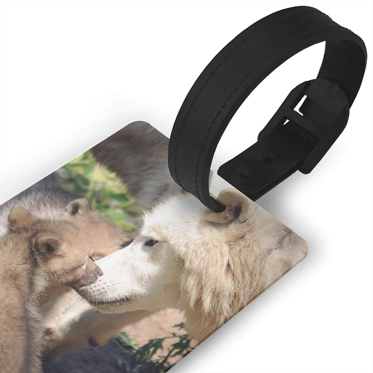 Wolf Travel Tags For Suitcase Bag Accessories 2 Pack Luggage Tags