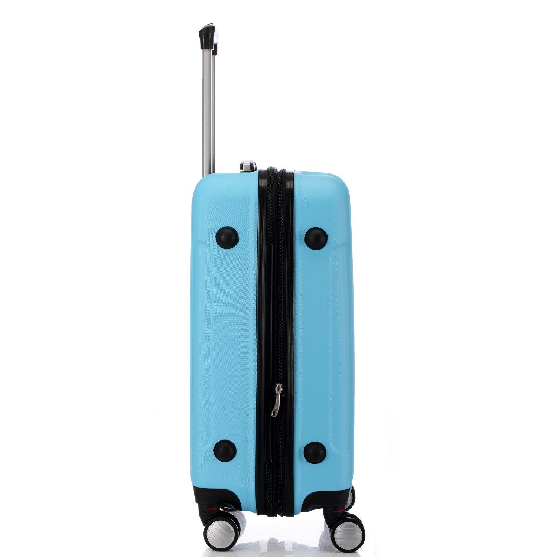 BEIBYE LG2050 doble ruedas carcasa rígida maleta estuche de viaje, Himmelblau, Large