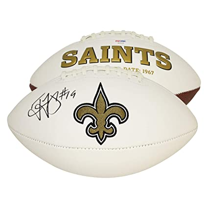 a72e716ca Ted Ginn Jr. New Orleans Saints Autographed Signed White Panel Football -  PSA DNA