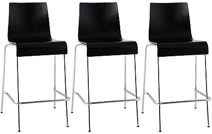 Quai set di sgabelli da bar media altezza colore nero