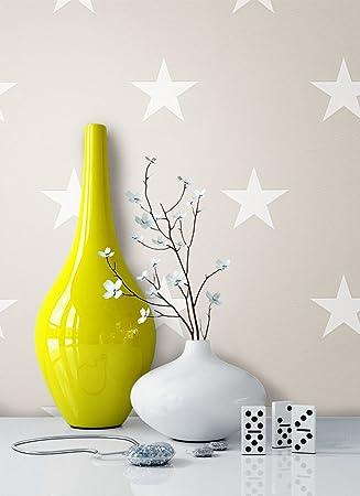 Vliestapete Sterne grau weiß Sternchen Tapete by Michalsky Living