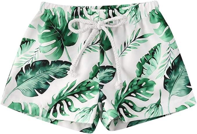 Shade Critters Baby Boys Leaf Print Swim Trunks Infant//Toddler