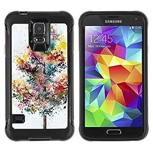 Paccase / Suave TPU GEL Caso Carcasa de Protección Funda para - Tree Painting Watercolor Autumn - Samsung Galaxy S5 SM-G900