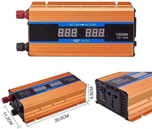 Inversor De Corriente 1200W 2600W, Dc 12V 24V 48V 60V 72V A Ca ...
