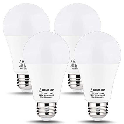LOHAS A19 Bulb 100W LED Light Bulbs, A19 Daylight E26 Edison Bulb ...