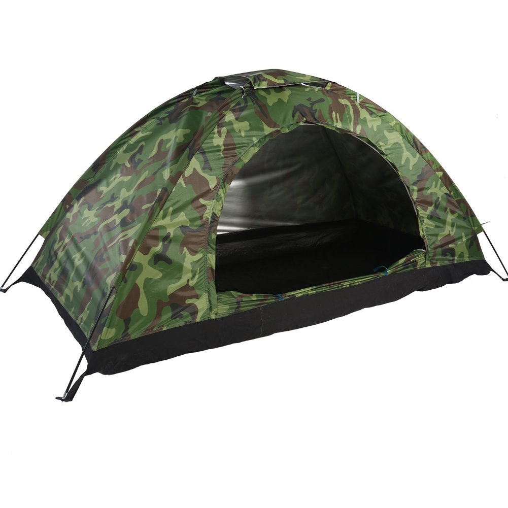 Estink キャンプテント アウトドア カモフラージュ UV保護 防水 1人用 バックパッキングテント キャンプ ハイキング用   B07KWWYD12