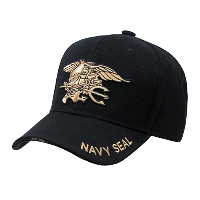 Image Unavailable. Image not available for. Color  Rapid Dominance Black Navy  Seal Embroidered Military Baseball Cap ... 189248c58bd9