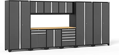 NewAge Products Pro Series Gray 10 Piece Set, Garage Cabinets, 52151