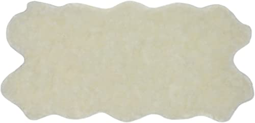 Nouvelle Legende Faux Fur Sheepskin Rug Soft and Stylish Luxury Quattro 34 in. X 67 in. – White