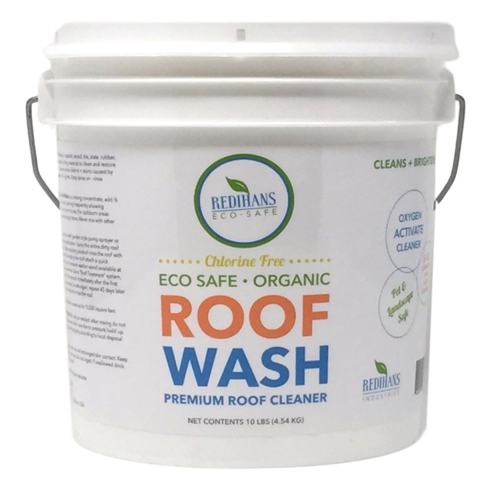 Wash Safe Industries ROOF WASH Premium Eco-Safe and Organic Roof Cleaner, 10 lb Container