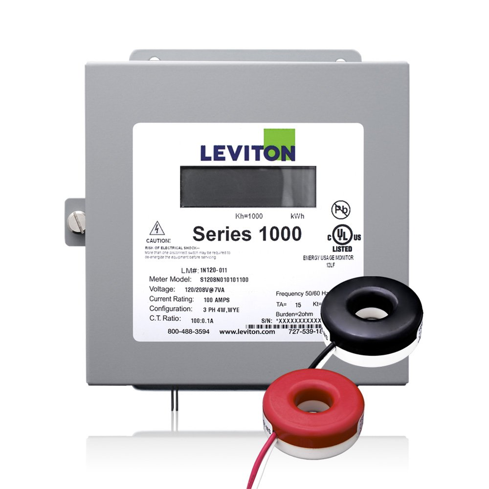 Leviton 1K240-1SW Series 1000 120/240V 100A 1P3W Indoor Kit
