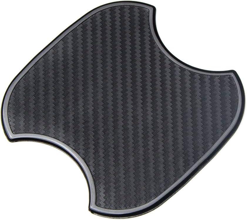 TANGSEN 4Pcs Universal TPU 3D Carbon Fiber Texture Car Door Handle Paint Scratch Personalize Protective Pad Protector Sticker Protection Cover Scotchguard Clear Guard Film M