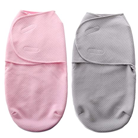 Manta de saco ajustable para bebé Swaddle Wrap con cremallera Boy Girl, Manta de algodón