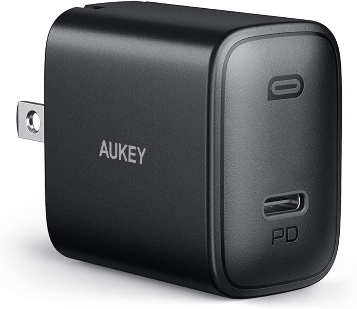 iPhone Fast Charger, AUKEY Swift 18W USB C Charger for iPhone 12/12 Mini/12 Pro Max with Foldable Plug &Power Delivery 3.0,Compact PD Charger Adapter USB C Wall Charger for iPad Pro/AirPods Pro/Switch