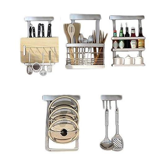 Multi-función de Cocina Estante Palillos de Acero Inoxidable ...