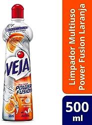 Limpador Multiuso Power Fusion, Veja, Laranja, 500 ml
