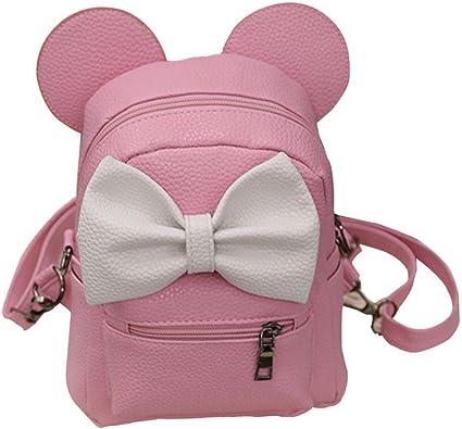 Mickey Backpack Pu Leather Female Mini Bag Backpack travel Bag Lady Shoulder bag
