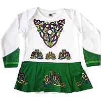 Green Babies Vest Designed As Irish Dancing Dress with Celtic Design