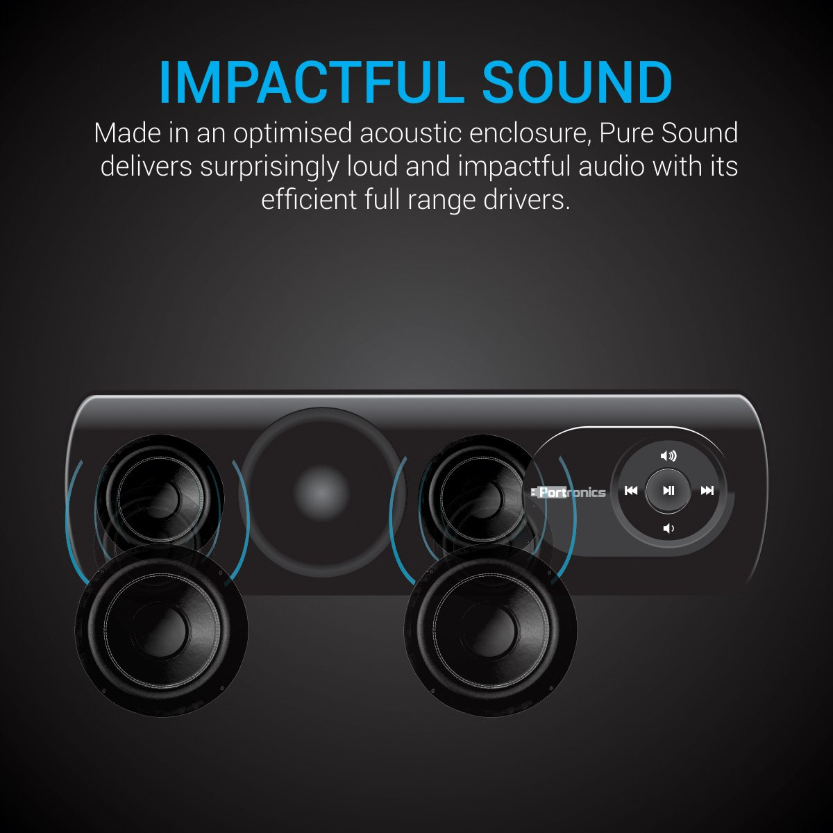 Portronics Pure Sound Portable Speaker System Electronics 8 Bit Up To 65 Se Of All Outputs Short Circuit