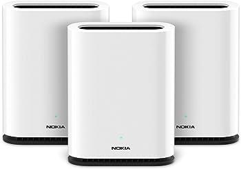 3-Pack Nokia WiFi Beacon 1: AC1200 Whole Home WiFi Mesh System