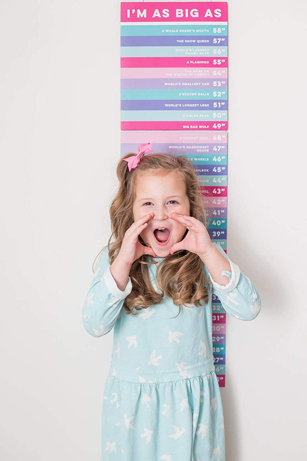 Boys Girls with Age Stickers BOY Sticky Bellies SYNCHKG085355 Educational Height Comparison Growth Chart Removable