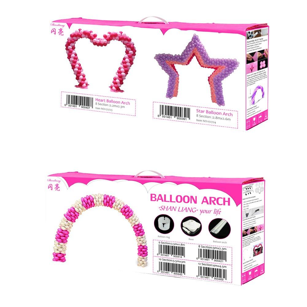 Printex Heart Star Balloon Arch Frame Kit With Column For Wedding ...