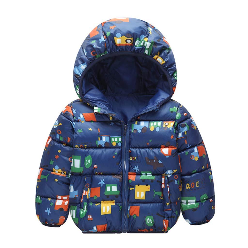 0dd1e8c509dc2f Bambino Piumino con Cappuccio Bambini Cappotto Giubbotti Invernale Giù  Giacca per Ragazzi Ragazze Cotone Imbottito Antivento