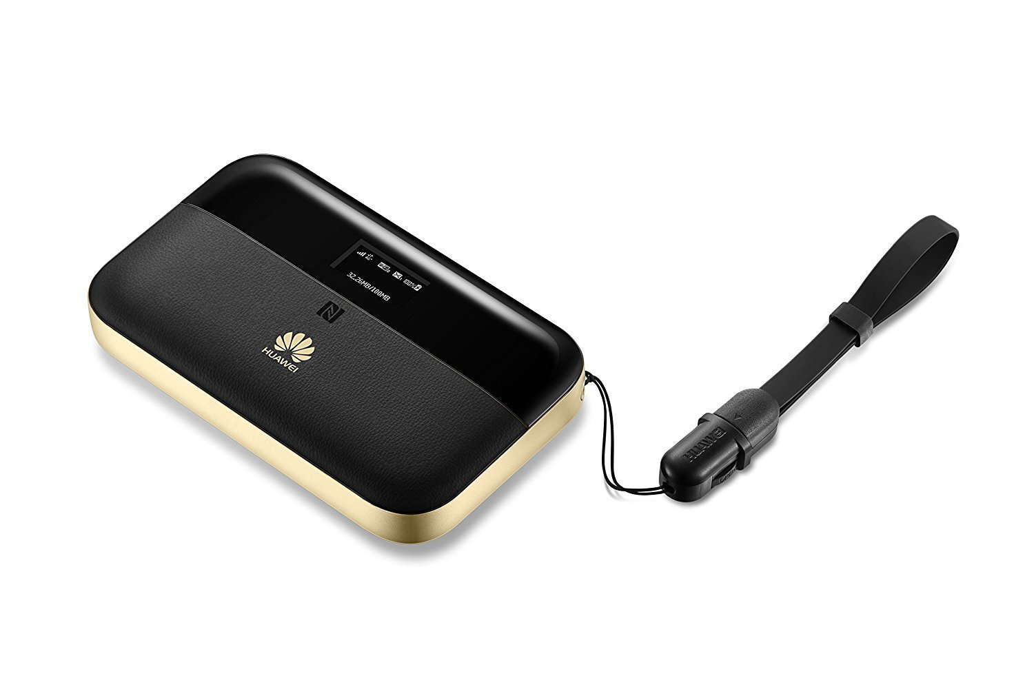 Huawei E5885Ls-93a 300 Mbps 4G LTE Mobile WiFi (4G LTE globally, including AT&T and T-Mobile, 25 hours work time) (Black)