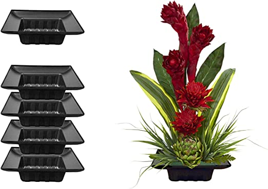 2 x SINGLE BRICK PLASTIC OASIS FRESH CUT FLOWER FLORAL ARRANGEMENT TRAYS