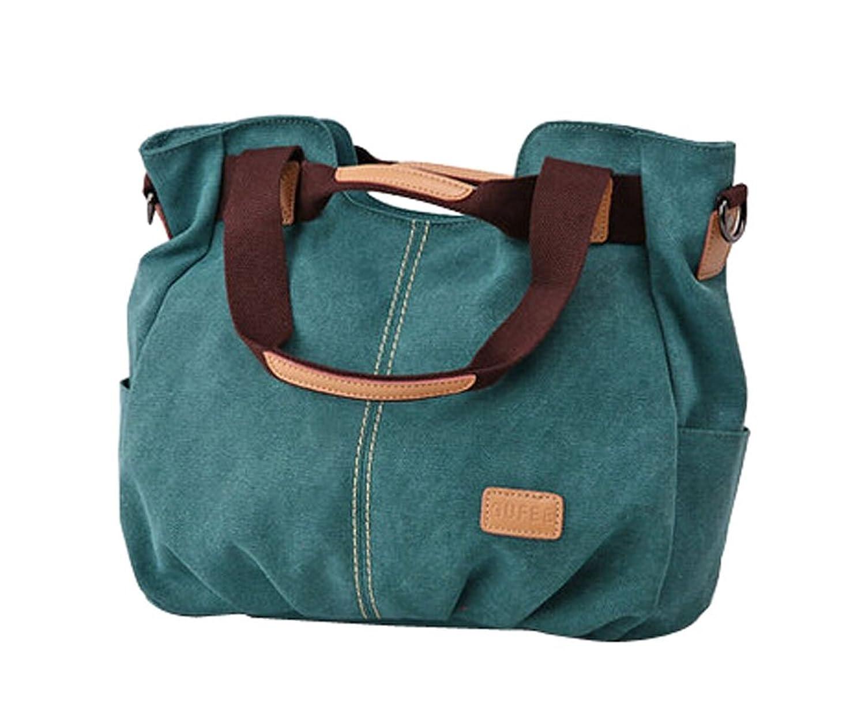 Modern Canvas Bag Handbag Shoulder Bag Unique Cross Body Bag Coral CYAN