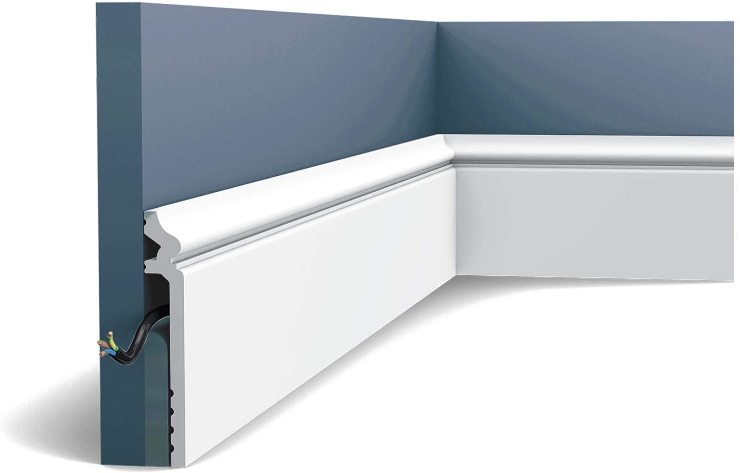 Skirting Orac Decor SX186 LUXXUS Contour Cover Skirting Decorative Moulding Classic Look White 2m
