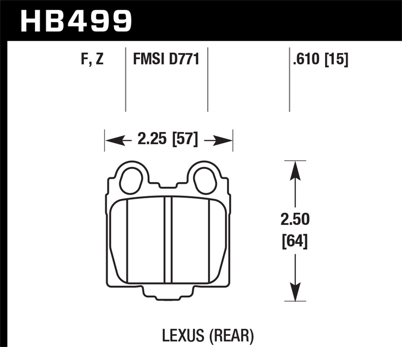 Hawk Performance HB485F.656 HPS Performance Ceramic Brake Pad