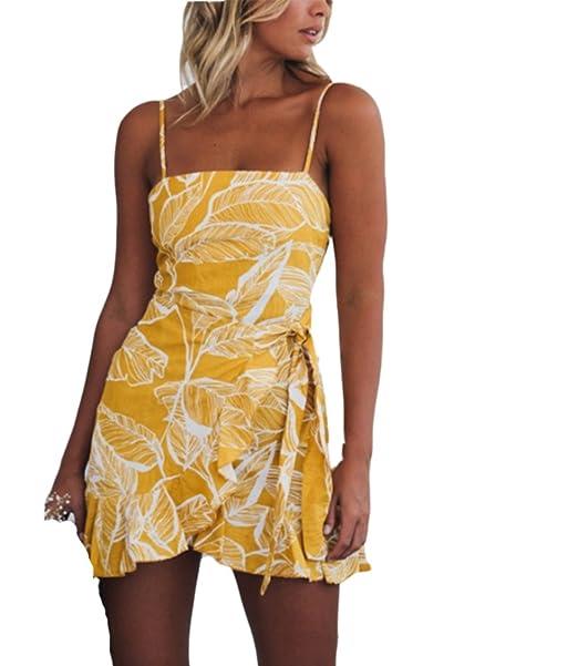 Vestido corto de día festivo de vacaciones de verano de playa de impresión floral de las