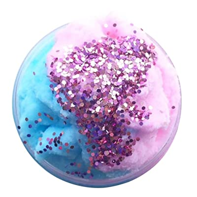 MML 80ml Slime Squishy Jouets Neige Poudre Boue Avec Glitter Poudre Coloré Mélange Nuage Coton Bonbons Slime Scented stress Enfants Jouet En Argile (80ml, Multicolor)