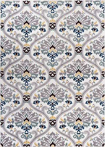 Well Woven Electro Darling Floral Gold Floral Modern Area Rug 5'3