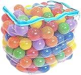 Wonder Playball Non-Toxic 200 Phthalate Free Crush Proof Pit Balls, Red, Orange, Yellow, Green, Blue and Purple, 6.5 cm