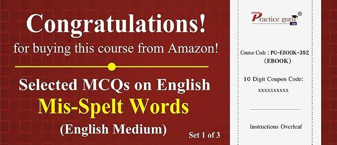 Practice Guru Selected MCQs on English - Mis-Spelt Words Set