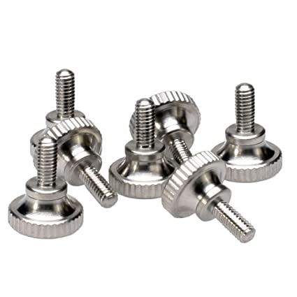 Amazon Com M2 5x6mm Knurled Head Thumb Screws Stainless Steel