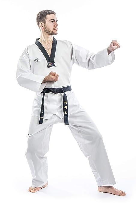 Tusah Taekwondo Traje TKD Dobok - Parte Superior con Solapa Negra ...