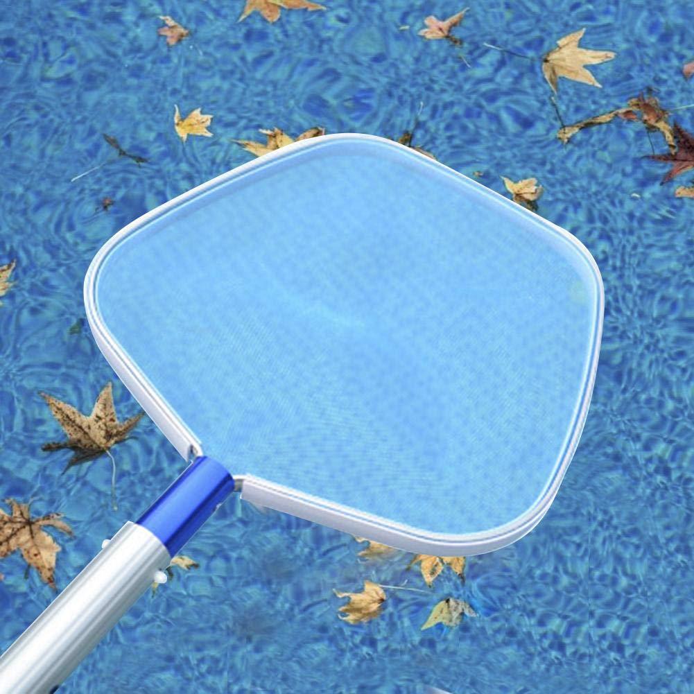 Skimmer de piscina por Aquatix Pro Premium Rastrillo de hojas con bolsa profunda con poste de aluminio telesc/ópico ajustable de trabajo pesado de 4 pies marco resistente malla fina agarre fuerte