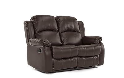 Divano Roma Furniture Classic Loveseat - 2 person recliner