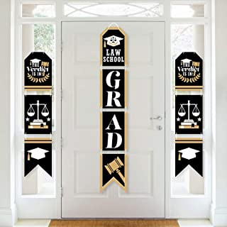 product image for Big Dot of Happiness Law School Grad - Hanging Vertical Paper Door Banners - Future Lawyer Graduation Party Wall Decoration Kit - Indoor Door Decor