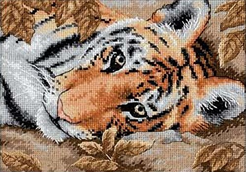 Dimensions Needlecrafts Counted Cross Stitch, Beguiling Tiger Cross Stitch Kit Tiger