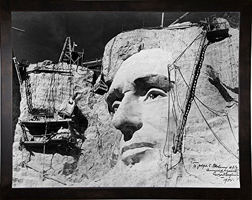 Abraham Lincoln on Mount Rushmore Print 9.70