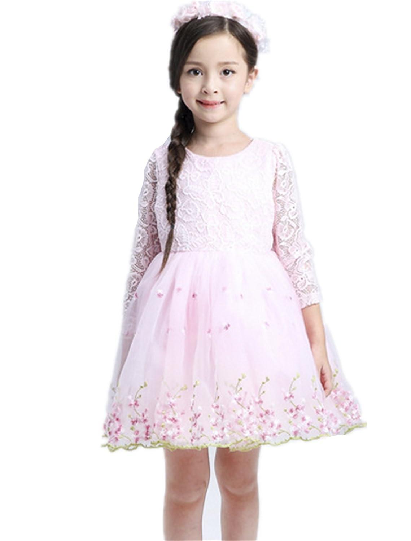 Fanessy Mädchen Kleid Weiß Tüll Schichten Hochzeit Festzug Blume Mädchen kostüm mädchen