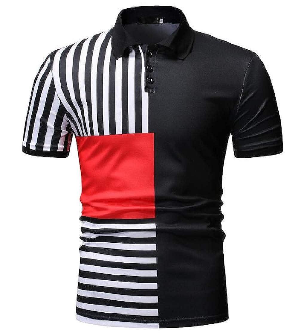 Nanquan Men Casual Short Sleeve Office Regular Fit Stylish Polo Shirt