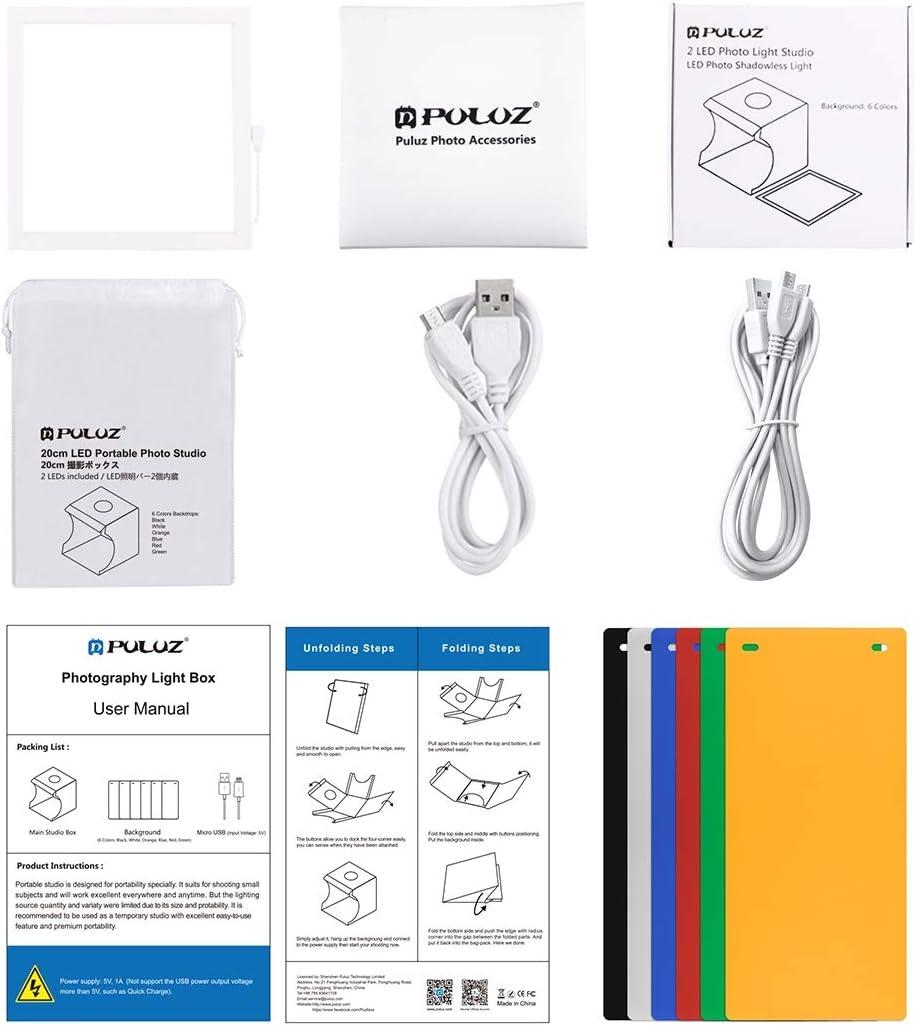 Acrylic Material Studio Shooting Tent Box 20cm x 20cm Effective Area Camera Accessories Mini LED Photography Shadowless Light Lamp Panel Pad