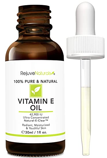 Vitamin E Oil - 100% Pure & Natural, 42,900 IU. Visibly Reduce the Look of Scars, Stretch Marks, Dark Spots & Wrinkles for Moisturized & Youthful Skin. d-alpha tocopherol (1 Fl. Oz)
